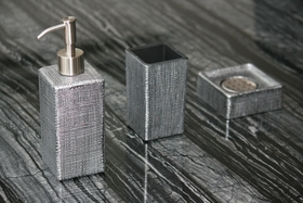 VENICE SET BLACK SILVER | Designer Bathroom Sets