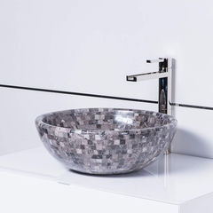 Vigillini Natural Stone Mosaic Luxury Vessel Sink
