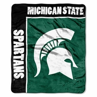 Michigan State University Raschel Throw by Northwest Company