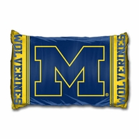 University of Michigan Pillowcase Set by Northwest Company