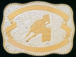 Crumrine Barrel Racer Female Trophy Buckle 04658