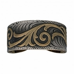 Montana Silversmiths New Classic Finish Golden Buds Accents Cuff Bracelet  BC342NCF