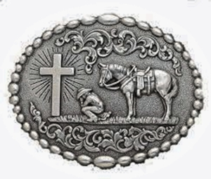 Nocona Chrisitan Cowboy Belt Buckle 37374