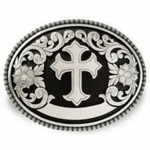 Nocona Floral Cross Belt  Buckle 37670