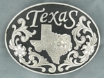 Nocona Black and Silver Texas Buckle 37674