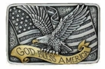 Nocona Gold Bless America Buckle 37015