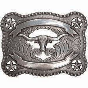 Nocona Longhorn and Stars Buckle 37580