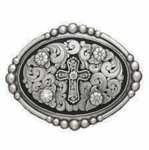 Nocona Floral Engraved Cross Buckle 37678