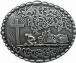 Nocona Chrisitian Motorcycle Belt Buckle 37972