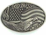 Nocona God Bless America Buckle 37016
