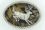 Nocona Mossy Oak Oval Buck Buckle 3707657