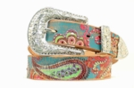 Nocona Multi Colored Hippie Style Rhinestone Belt N3418097
