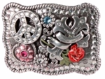 Nocona  Peace and Love Buckle 37694