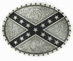 Nocona Silver Oval Rebel Buckle 37922