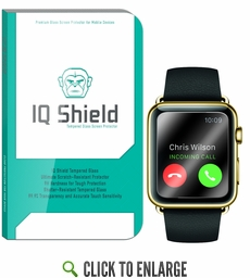 IQ Shield Tempered Glass – Apple Watch 38mm Glass Screen Protector