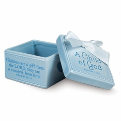 A CHILD OF GOD - Blue Keepsake Box