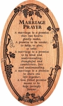 A Marriage Prayer Carved Cherry Sign