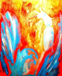 Adoration by Rod Hinson - Unframed Christian Modern Art