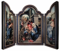 Adoration of the Magi (Dark Blue) Triptych Plaque