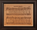 Amazing Grace Engraved and Framed Hymn
