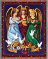 Angels Throw Religious Tapestry