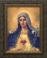 Antique Immaculate Heart (Ornate Dark Frame) - 4 Framed Options