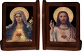 Antique Sacred Heart & Immaculate Heart Bookends