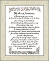 "Art of Marriage Framed Poem 6"" X 8"""