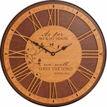 As For Me Circular Cherry Wood Wall Clock