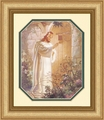 At Heart's Door by Warner Sallman - Gold Framed Christian Art