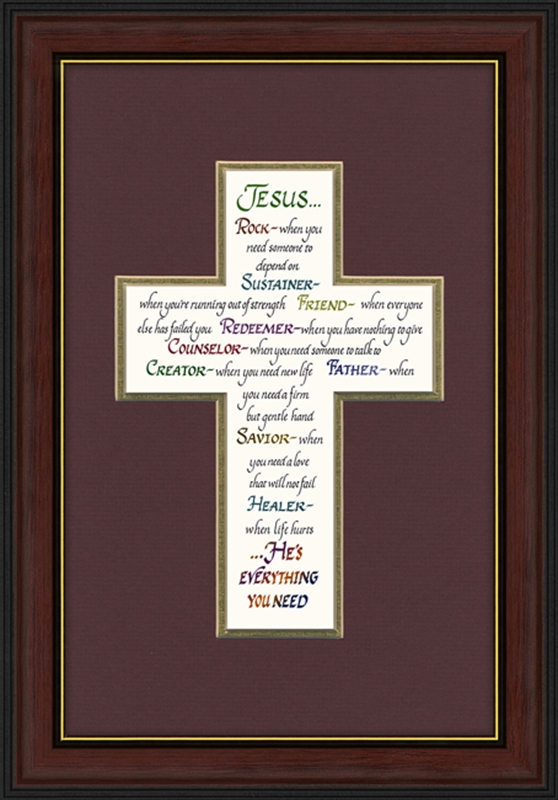 attributes of jesus framed christian wall decor 2 frames available