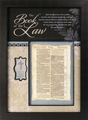 Bible Page - The Book of the Law Christian Wall Decor