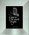 Bible Quote - God Is At Work Christian Wall Decor
