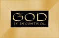 Bible Quote - God Is Control Christian Wall Decor