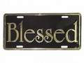 Blessed - Gold Christian License Plate