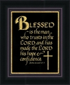 Blessed is the Man Framed Christian Wall Decor