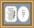 "Broken Chain Poem Spanish Photo Frame Female 11"" X 12"""
