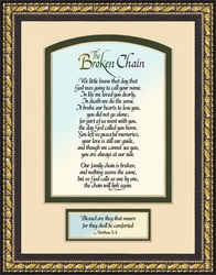 Broken Chain Sympathy Gift  BEST SELLER