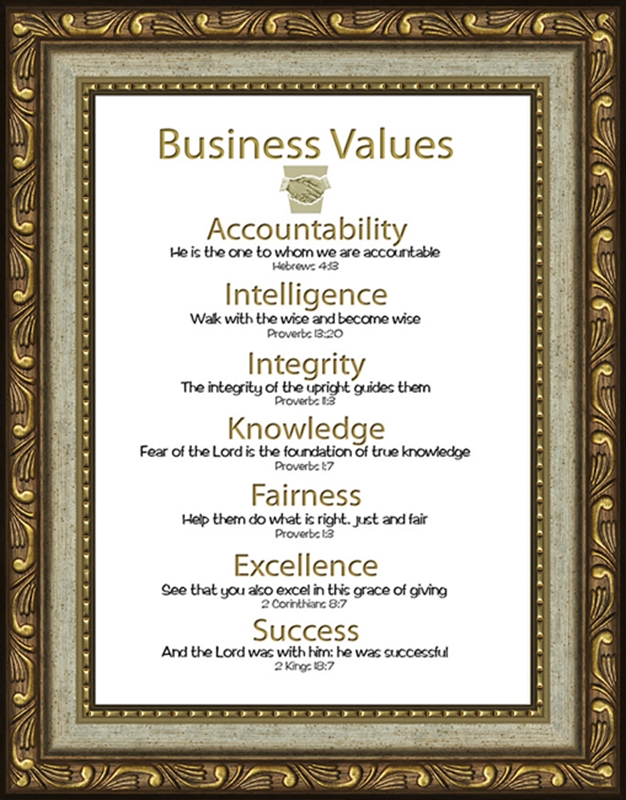 business christian scripture values 4 frames available