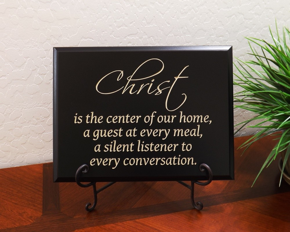 Christ Is The Center Of Our Home Wall Dcor Lordsart