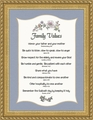 Christian Family Values Framed Wall Decor