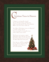 Christmas Trees in Heaven Sympathy/Memorial Gift