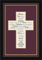 Jesus Cross Calligraphy Art - Framed Christian Wall Decor