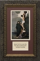 Crucifixion of Our Lord with Prayer Framed