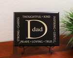 Dad Carved Wood Father's Day Gift