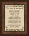 El Arte Del Matrimonio Framed Spanish Wedding Gift - 4 Frames Available