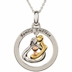 Embrace by the Heart � (Family) Embrace Circle Necklace