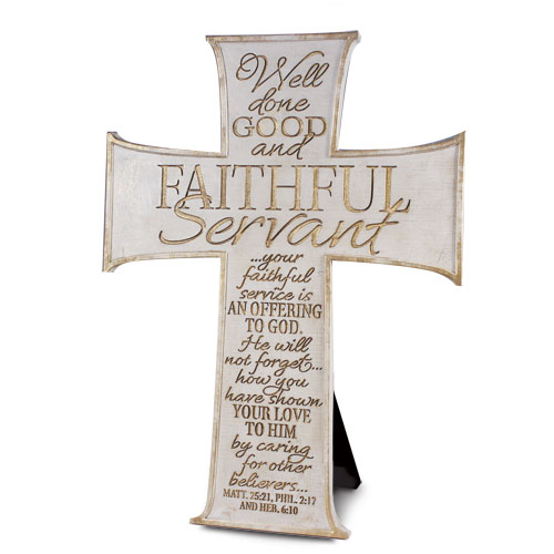 Faithful Servant Cross - WhiteFaithful Servant