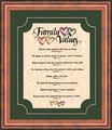 Christian Family Values Framed Christian Wall Decor