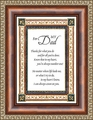 For My Dad Framed Art - Christian Wall Decor